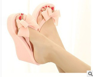 summer sandals women 2014 bowknot High heels flip-flops flip flops - OX clothes store