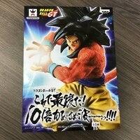 Original Banpresto Anime Dragon Ball GT Super Saiyan jin Goku unique skill PVC Model With Box