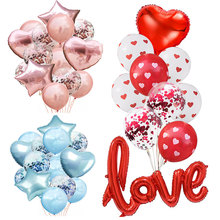 hot deal buy fashion wedding balloon round confetti ballon heart balloons birthday party decorations adult kids event party air baloon baloes
