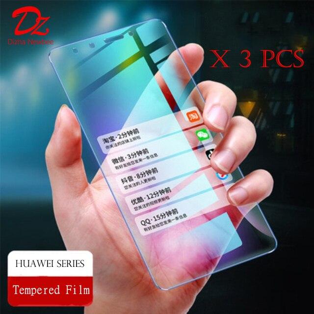 3 piezas para Huawei P20 Pro P20 Lite Protector de pantalla no-pantalla completa de 9 H arco de vidrio para Huawei p10 más P20 de templado de vidrio de película