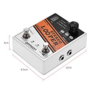 Image 5 - جودة جيدة أجزاء الغيتار ammoon ستيريو وبر حلقة سجل الغيتار تأثير دواسة 10 حلقات مستقلة كحد أقصى. 10 دقيقة وقت التسجيل