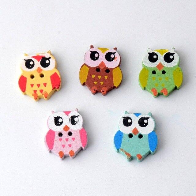 Free shipping Retail DIY 40Pcs Random Mixed Lovely Animal Owl ...