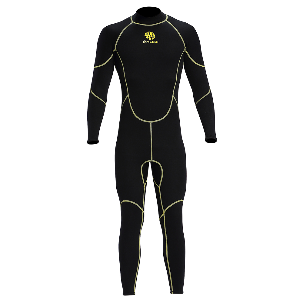 Men s Diving Suit 3mm Back Zip Full Body Wetsuit Warm UV Protection Swimming Surfing Snorkeling