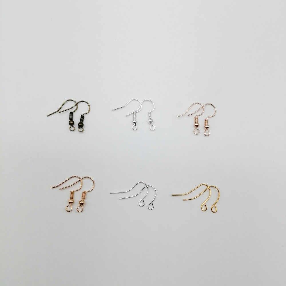 100 ชิ้น/ล็อต DIY ต่างหูต่างหู Clasps Hooks อุปกรณ์ DIY เครื่องประดับทำอุปกรณ์ต่างหูอุปกรณ์เสริมสำหรับสตรี