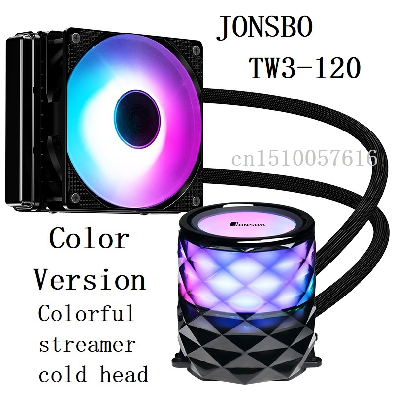 jonsboTW3 120 Color version CPU water cooling Radiator Colorful streamer cold head