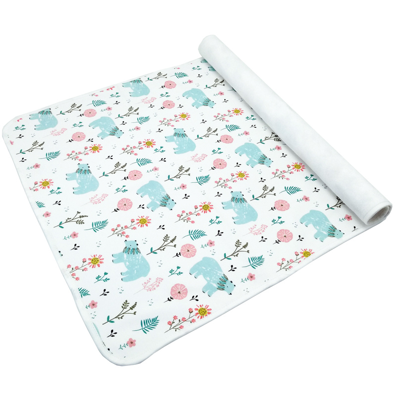 Baby Portable Washable Changing Mat 2019 New Infants Cute Waterproof Foldable Mattress Children Game Reusable Baby Wipes 50*70CM