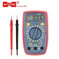 WHDZ DT33B цифровой мультиметр с подсветкой  защита от зуммера  AC  DC  амперметр  вольтметр  Ом  портативный измеритель  хранение данных  тест на ба...