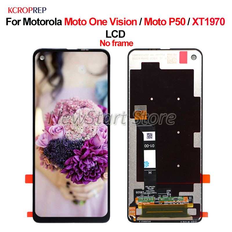 "6.3"" For Motorola Moto One Vision LCD For Motorola Moto P50 XT1970 lcd Display Touch Screen Digitizer Assembly Replacement Parts"