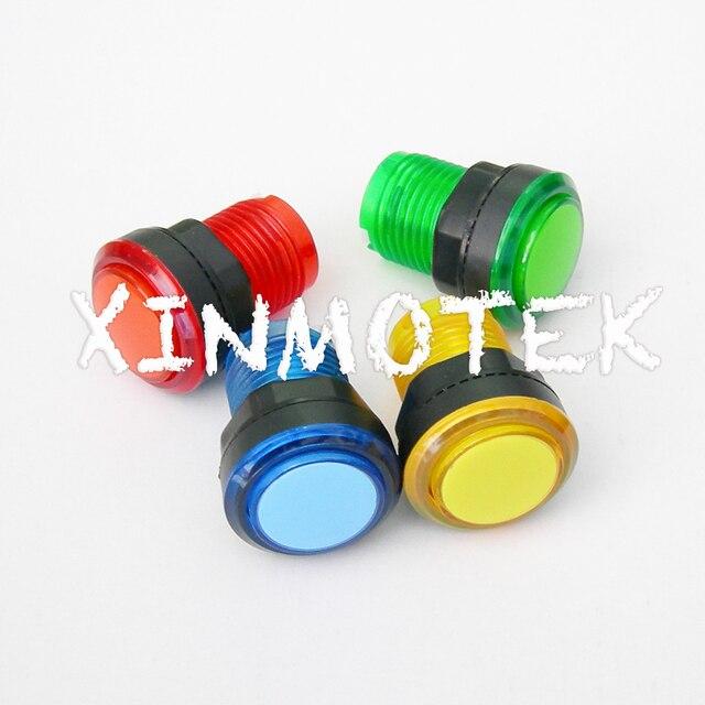 10PCS of  30mm Transparency Illuminated Push button / HAPP Push Button /  Arcade Game Machine Accessories