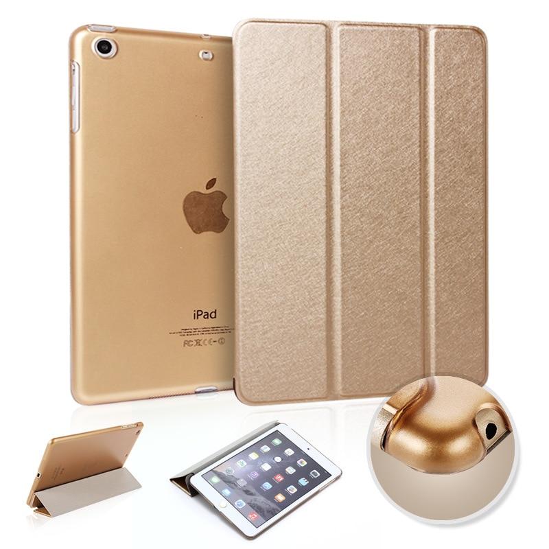 PANSOPHY Luxury Silk Filt Läderfodral till Apple iPad 2 3 4 Smart CASE Tabletkåpa A1395 A1430 A1460 A1458 Case fundas capa