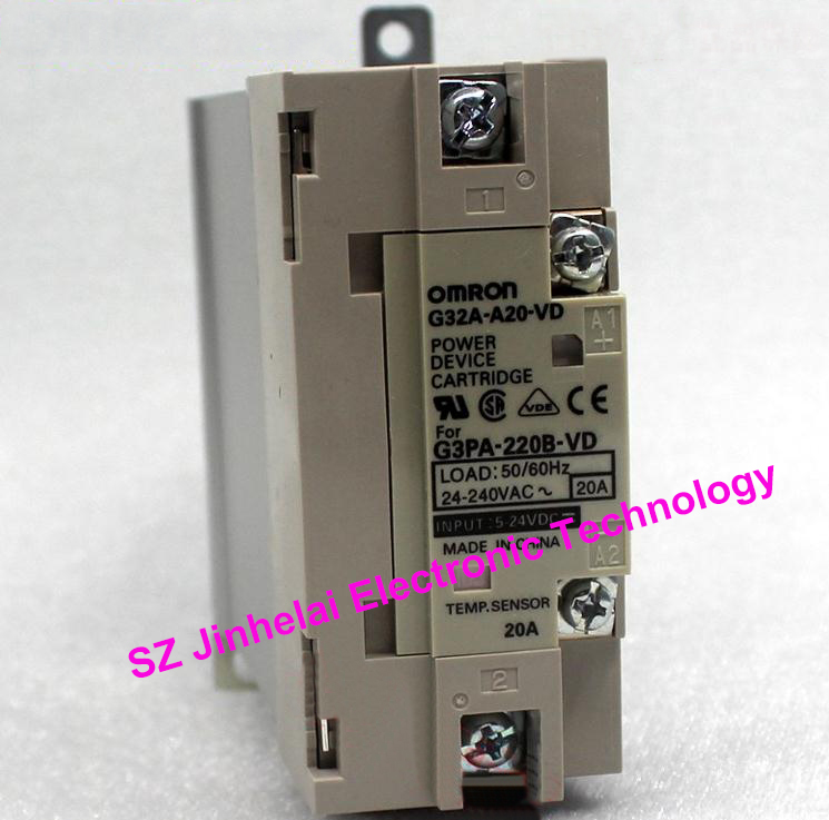 цена на Authentic original G32A-A20-VD OMRON Solid state relay 20A 5-24VDC POWER DEVICE CARTRIDGE DC5-24V