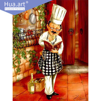 Diamond Painting Diamond Embroidery Character Cocinero Kitchen Painting Bartender Red Wine Division Gift Home Decoration