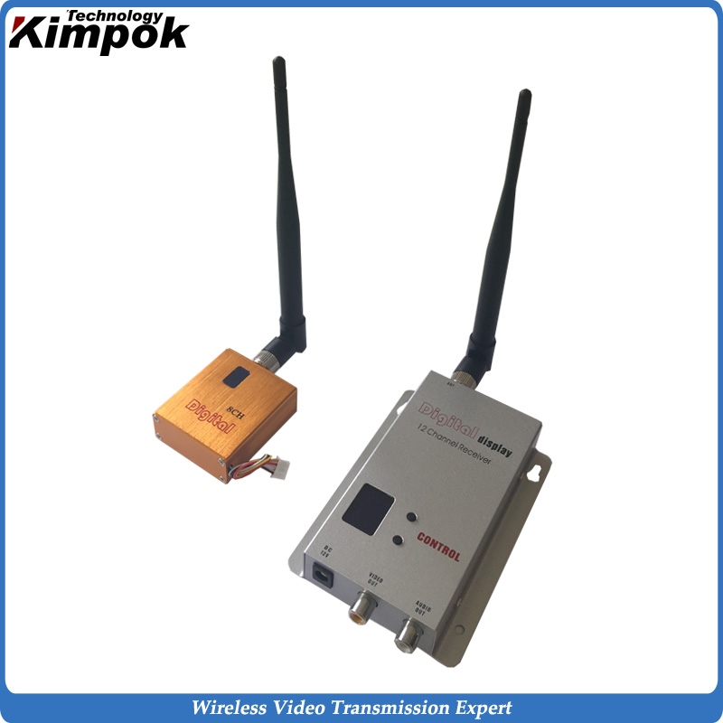 Lightweight UAV Video Link 10KM LOS Long Range Wireless Sender with 82g only, 1.2Ghz 800mW FPV Image Transmitter