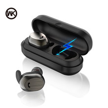 WK Wireless TWS Bluetooth Earphones Headsets Earbuds Charging Box Mini 3D Stereo Bluetooth Headphones for Xiaomi iPhone Samsung(China)