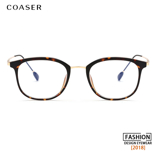 c40a37b0fe Big Round Vintage Optical Women Glasses Frame Retro Supper Light TR90 suit  Myopia Prescription Computer Eyeglasses Clear lens