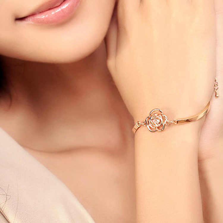 Оптовая продажа мода высокого класса Специальное предложение Роза камелии циркон браслет
