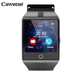 Cawono بلوتوث Q18 ساعة ذكية جهاز تعقب للياقة البدنية Smartwatch Relogio Relojes كاميرا مراقبة ل Ios أبل هواوي الروبوت الهواتف
