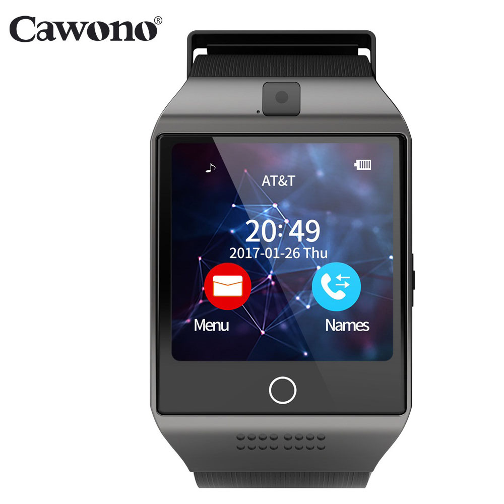 Cawono Bluetooth Q18 Smart Watch Tracker kecergasan Smartwatch Reload Relo Watch Kamera untuk IOS Apple Huawei Android Telefon