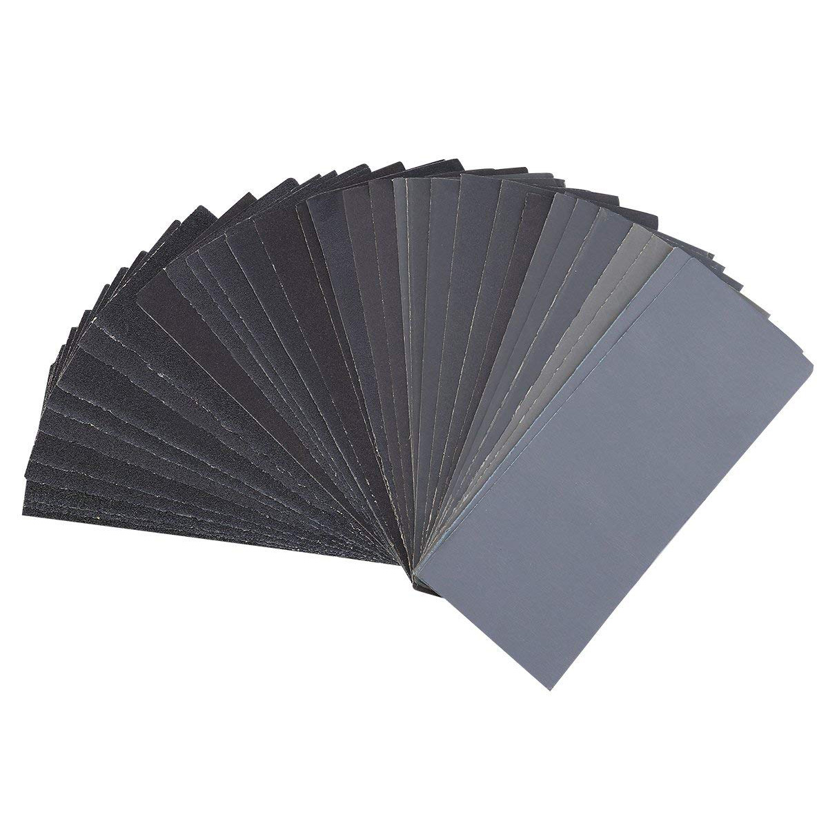 54 PCS New Style 60 to 3000 Grit Sandpaper Assortment Wet Dry Sand Paper for Automotive Sanding Wood Sandpaper Set water dry sanding paper sandpaper w3 5 w7 w10 w14 w20 w28 w40 w50 w63 w70