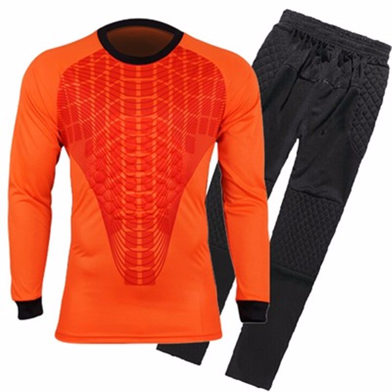 Mens Football Goalkeeper Jersey maillot de foot 2016 2017 Goalie Sponge Protector Suit Camisetas De Futbol Goal Keeper Uniforms 4