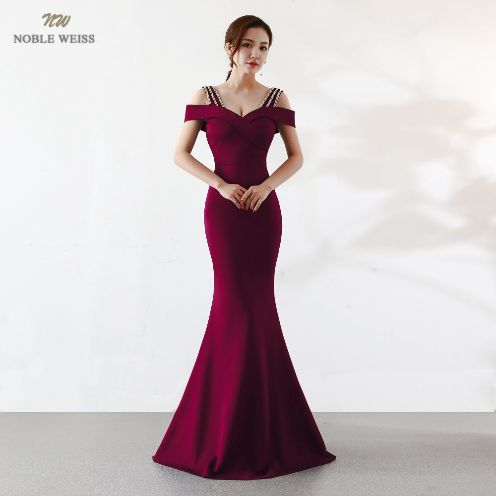 NOBLE WEISS Hot Sell Prom Dress Satin Boat Neck Sexy Slim Simple Corset High Quality Evening Wear Formal Party Gowns