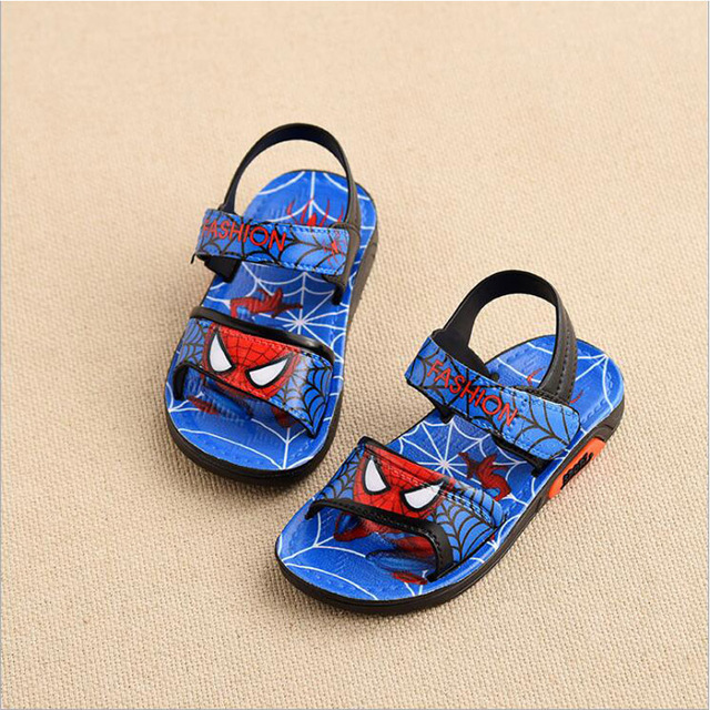 Children Shoes Boys Sandals 2019 New Summer Kids Beach Shoes Cartoon Boys Shoes Spiderman Baby Sandals Toddler Kids Sandals 3