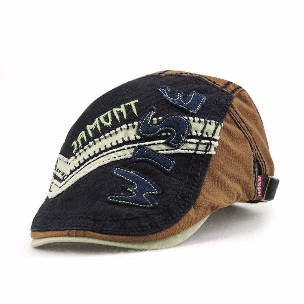 Fashion Letter Kids Beret Hats Duckbill Casquette Boina Buckle Visors Golf Driving Flat Detective Hat Casquette Newsboy Cap