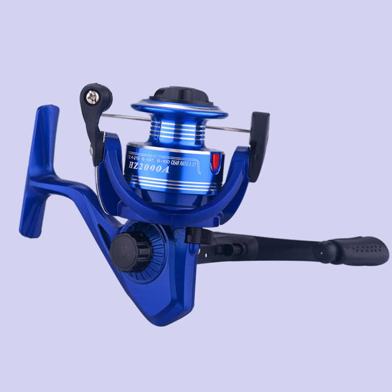 YUYU Metal blue red  Fishing Reel Spinning reel metal spool coil for carp fishing 2000 model gear Ratio 5.2:1 weight 150g