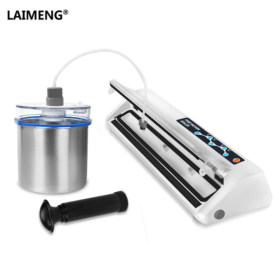 LAIMENG Vacuum Sealer With Food Grade Stainless Vacuum Container Packaging Machine For Food Vacuum Packer with Vacuum Bags S193 контейнер для хранения idea океаник цвет зеленый 8 л