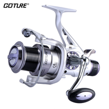 Goture Shark Carp Spinning Fishing Reel Long Casting Double Brakes System Sea Metal Reel Size 5000 6000