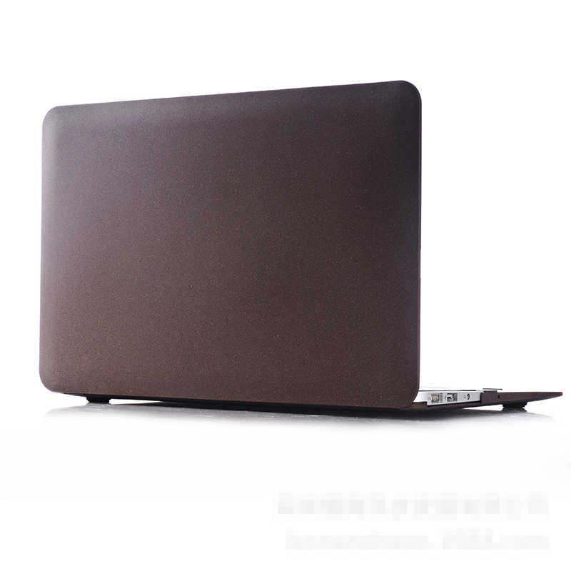 2018 nueva funda para ordenador portátil de arena movediza para Apple Macbook Air Pro Retina 11 12 13 15 pulgadas para Macbook Pro 13 15 funda dura + cubierta de teclado