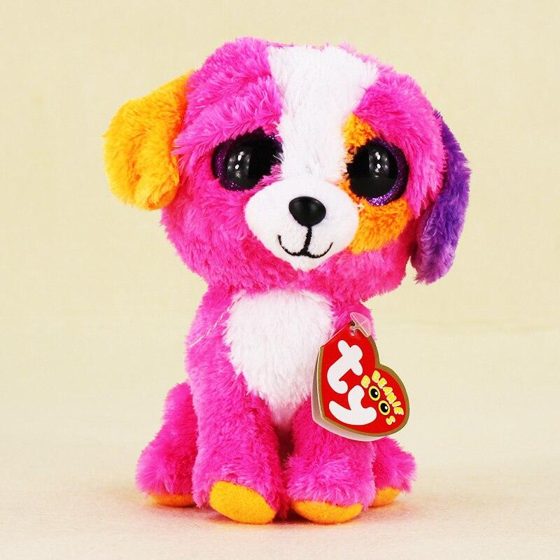 15 см Ty Beanie Боос большие Средства ухода для век плюшевые игрушки Kawaii куклы детского дня рождения Красочные собака чучела Животные детские