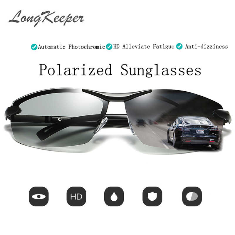 54a6625f673 LongKeeper Mens Outdoor Driving Fishing Sunglasses Transition Lens  Sunglasses HD Polarized Sunglasses Photochromic Sunglasses