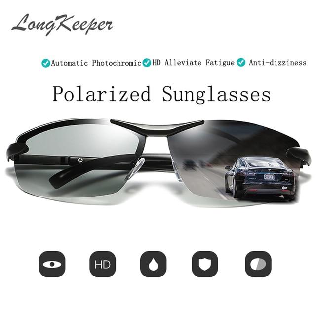 df54ec4962 LongKeeper Mens Outdoor Driving Fishing Sunglasses Transition Lens  Sunglasses HD Polarized Sunglasses Photochromic Sunglasses
