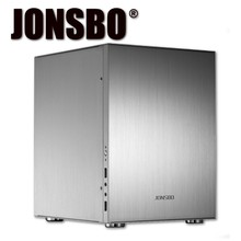 Jonsbo C2 C2S Mini PC Case Vertical All Aluminum Alloy Case USB 3.0 Panel Hot Sale jonsbo c2 c2r mini pc chassis mini itx atx case vertical all aluminum alloy usb 3 0 support video card