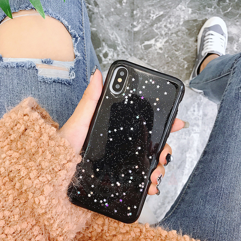 Cute Bling Glitter Soft Silicone Case For iPhone 7 6 6S Plus Star Cover Shining Phone Back For iPhone X 10 6 6S 8 7 Plus Case