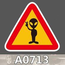 Предупреждение пришельцы фотографировать стикер Знак Водонепроницаемый чемодан ноутбук гитара багажная игрушка для скейтборда прекрасный стикер s