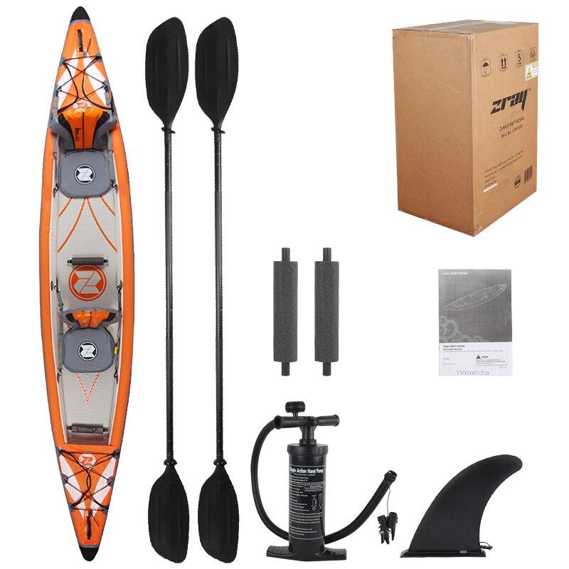 Kayak point de chute haute pression matériel 2 personnes double kayak gonflable système de drainage à aubes bateau gonflable canot à moteur radeau