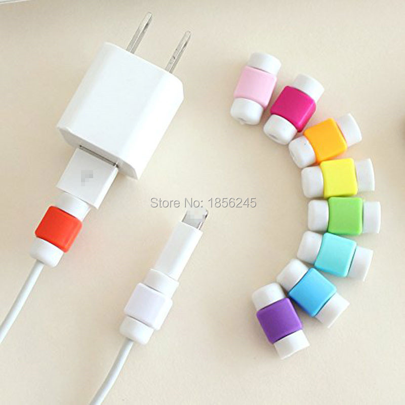 10 Pièces De Charge Câble Économiseur Protecteur Écouteurs Fil Protecteur pour Apple iPhone 6 s 6 s plus 5S 5c 5 4S 4