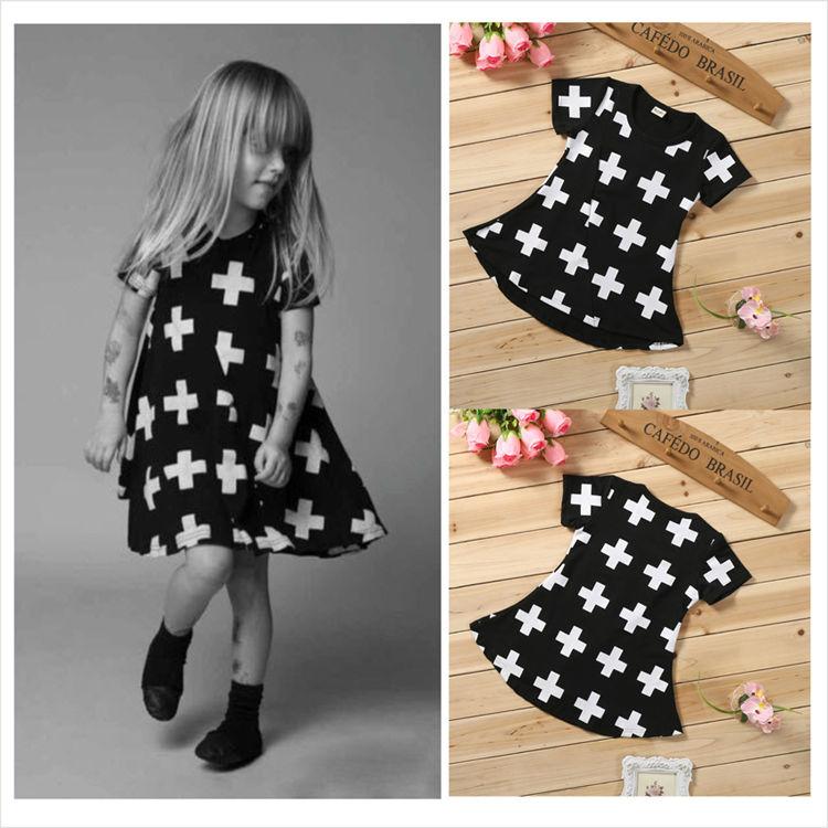 Consegna gratuita del 2016 nuovo vestito per bambini in cotone a maniche lunghe vestito da bambino controllato bambina