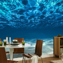 Custom Photo Wall Paper 3D Deep Sea Scenery