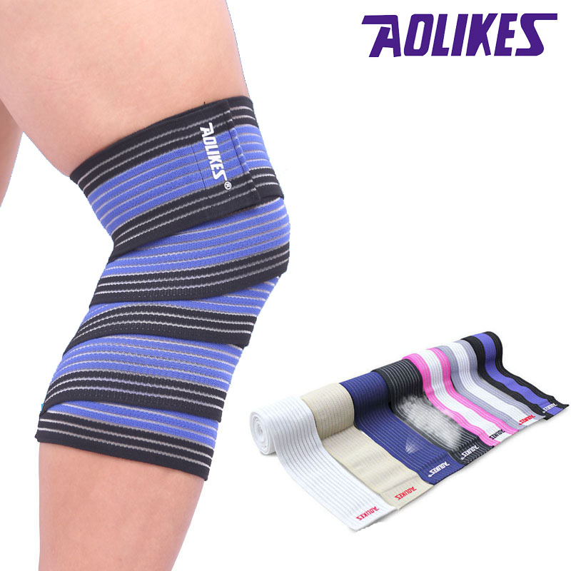 AOLIKES 1PCS Bandagem Elastica Knee Protector Sport Tape Kinesiologic Elastic Band Joelheira Vendas Deporte A-1516