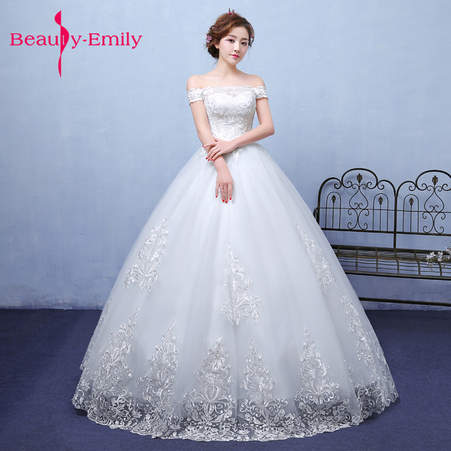 Exquisite Korean Bride Ball Gown Quality Embroidery Organza Andtulle Wedding Dresses 2018 Alibaba Customized Dress
