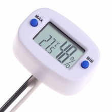 OOTDTY  LCD Digital Soil Tester Meter Temperature Humidity Monitor For Garden Lawn Plant Pot #9A30122#