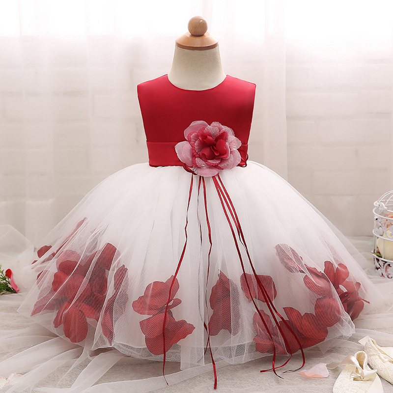Little Girl Dress Ceremonies Party Costume Chiffon Bow Lace Flower Princess Girl Tutu Dresses For Wedding Children Kids Clothing цены
