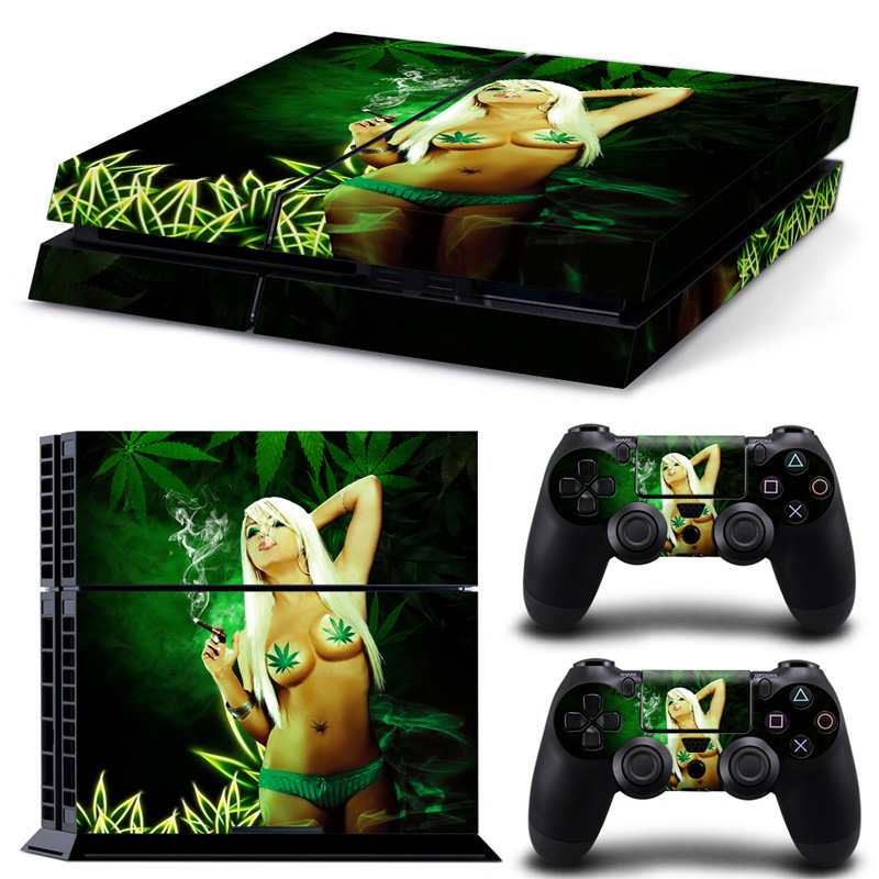 Free Drop shipping PVC Vinyl Skin Sticker for PS4 Games Skin Cover for PS4 Console and Controllers