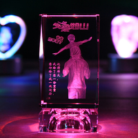 Father S Day Gift For Mom And Dad Father Crystal Luminous Colorful Personality Birthday Gift