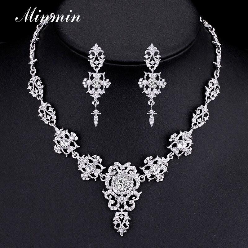 Minmin Classic Crystal Bridal Jewelry Ses