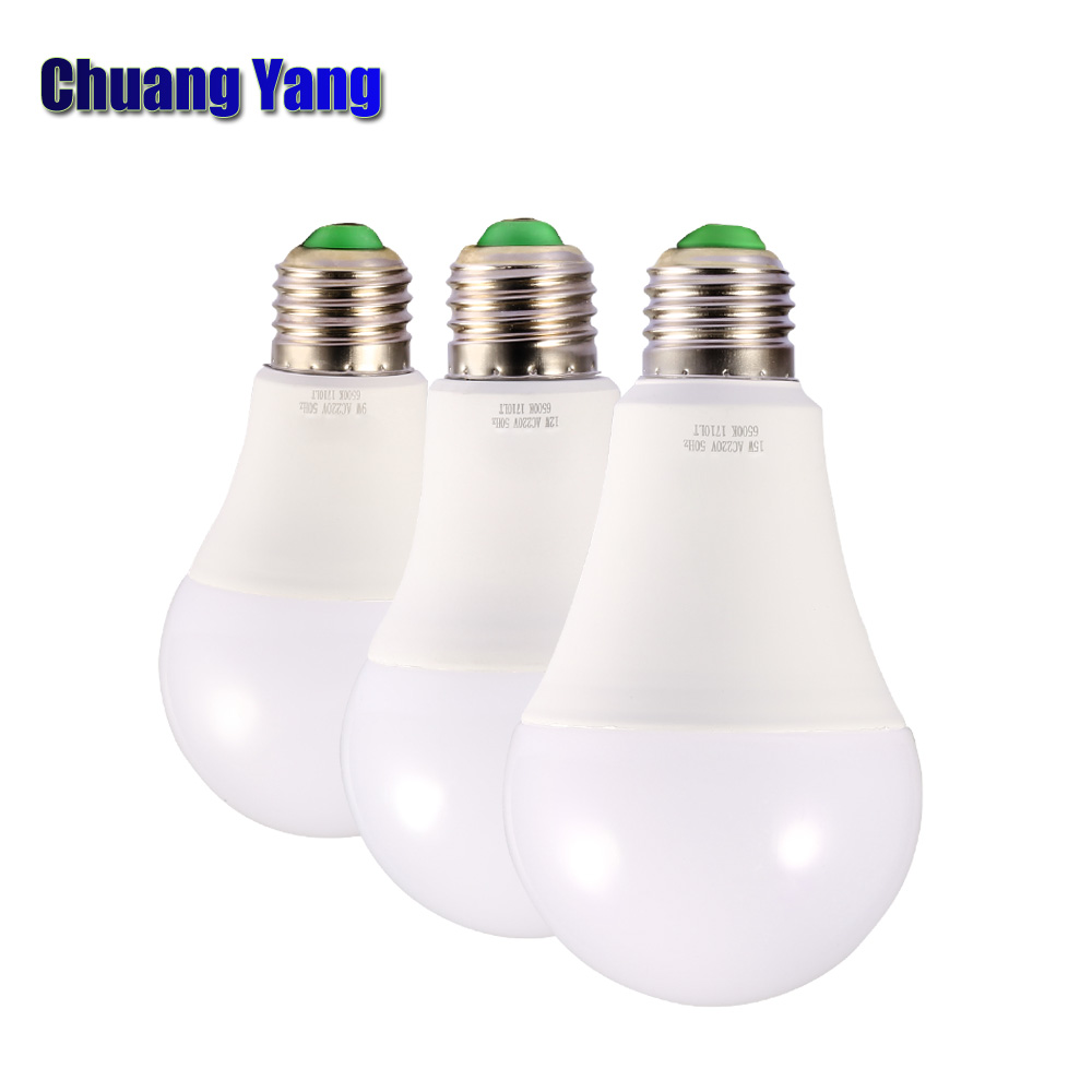 110V 220V led bulb E27 3W 5W 7W 9W 12W 15W 18W Aluminum plastic led light bulb lampada warm white cold white led lamp for home