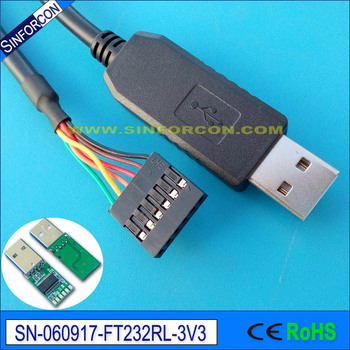 ftdi ft232rl usb ttl 3 3v cable for intel galileo gen2 board programming  kable console cable ttl-232
